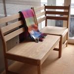 Oak Bench Set